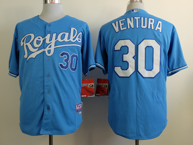 MLB Kansas City Royals 30 Ventura Blue 2014 Jerseys
