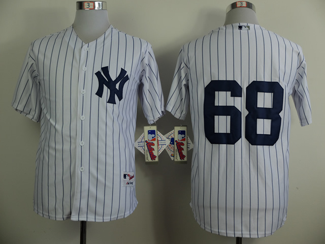 MLB New York Yankees 68 Dellin Betances White 2014 Jerseys