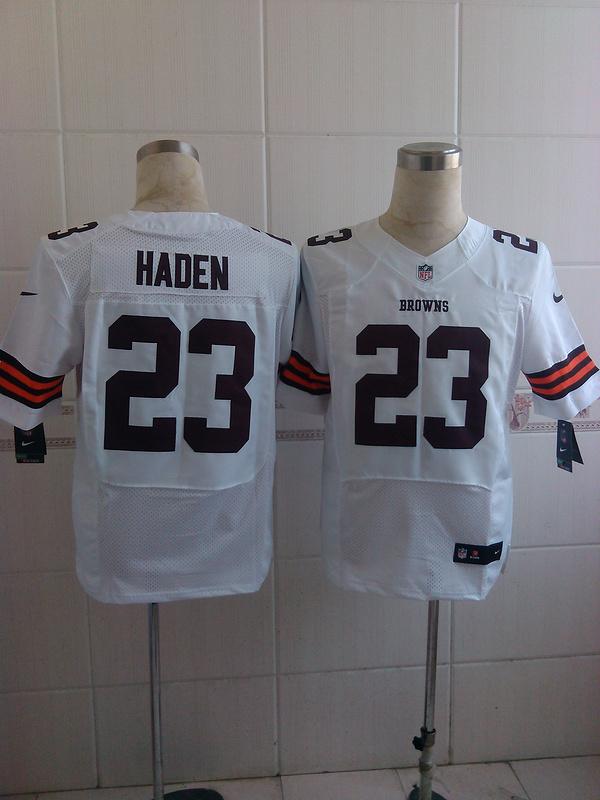 Cleveland Browns 23 Haden white 2014 Nike Elite Jerseys