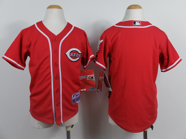 Youth MLB Cincinnati Reds Blank No Name Red 2014 Jerseys