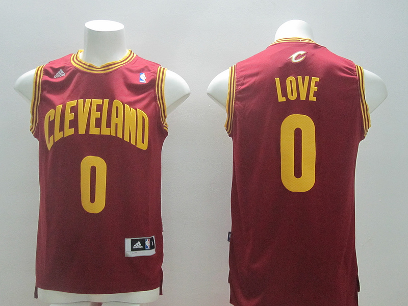NBA Cleveland Cavaliers 0 Kevin Love Red 2014 Jerseys