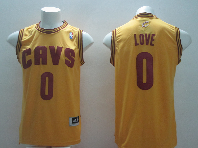 NBA Cleveland Cavaliers 0 Kevin Love Yellow 2014 Jerseys