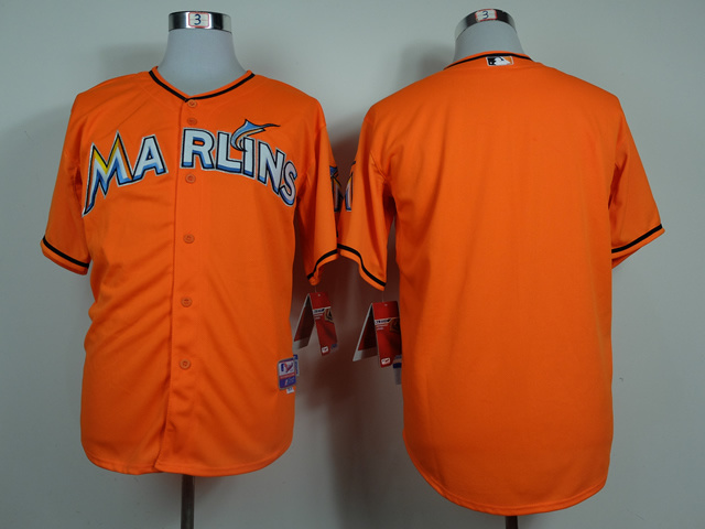 MLB Miami Marlins Blank Orange 2014 Jerseys