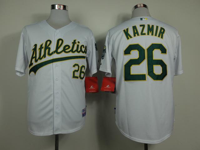 MLB Oakland Athletics 26 Scott Kazmir White 2014 Jerseys