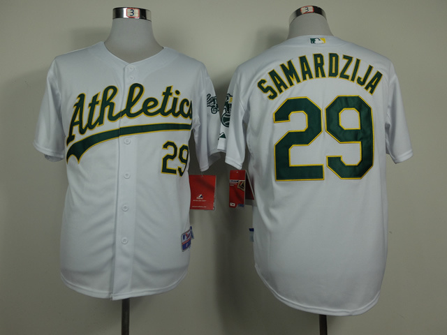 MLB Oakland Athletics 29 Jeff Samardzija White 2014 Jerseys