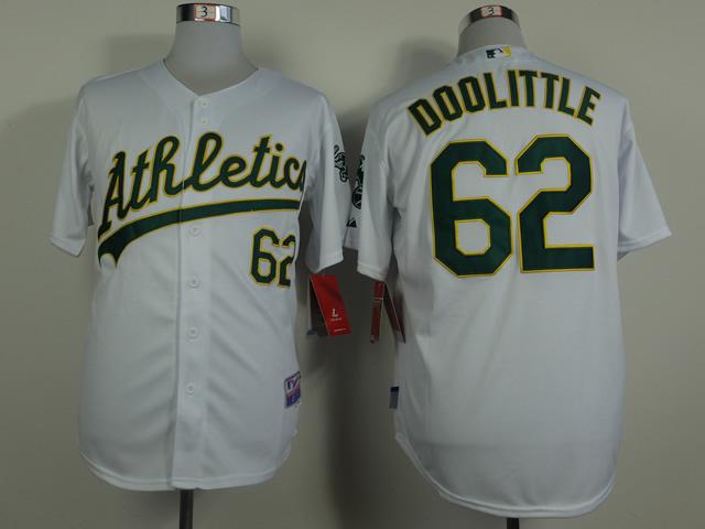 MLB Oakland Athletics 62 Doolittle White 2014 Jerseys