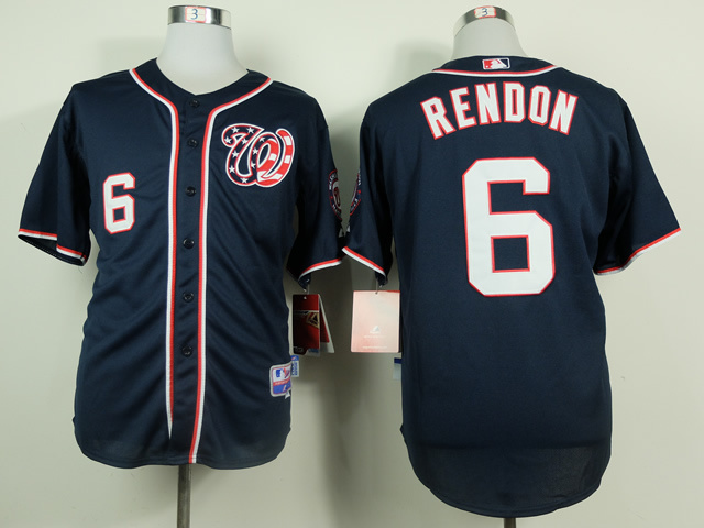MLB Washington Nationals 6 Rendon Blue 2014 Jerseys