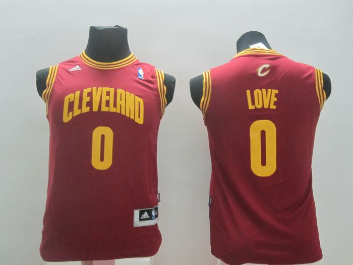 Youth NBA Cleveland Cavaliers 0 Kevin Love red 2014 Jerseys