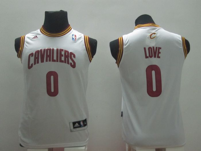 Youth NBA Cleveland Cavaliers 0 Kevin Love White 2014 Jerseys