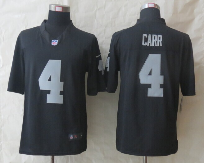 Oakland Raiders 4 Carr Black New Nike Limited Jerseys
