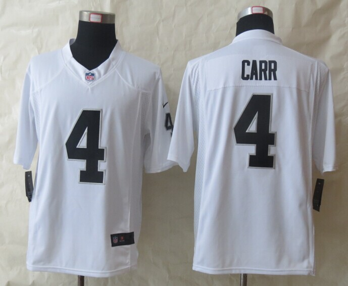 Oakland Raiders 4 Carr White New Nike Limited Jerseys