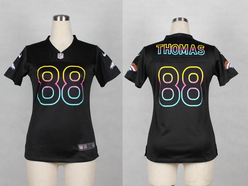 Womens Denver Broncos 88 Demaryius Thomas 2014 Black Fashion Nike Jerseys