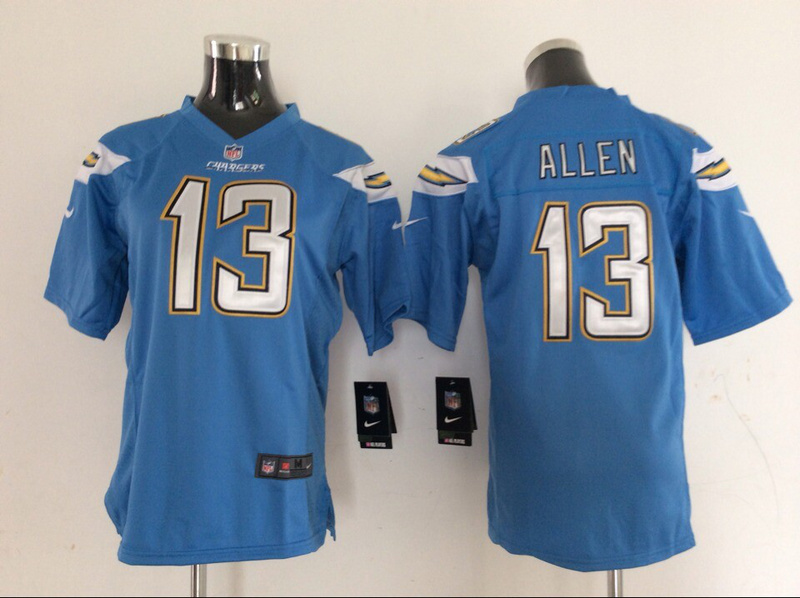 Womens Los Angeles Chargers 13 Allen Blue 2014 Nike Jerseys