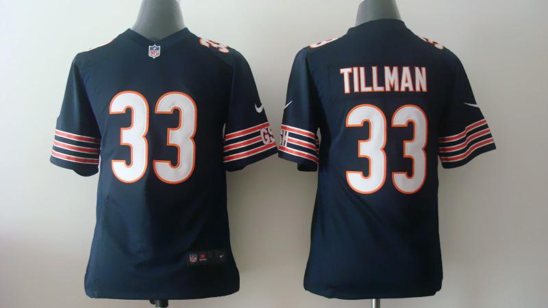 Youth Chicago Bears 33 Tillman Blue 2014 Nike Jerseys