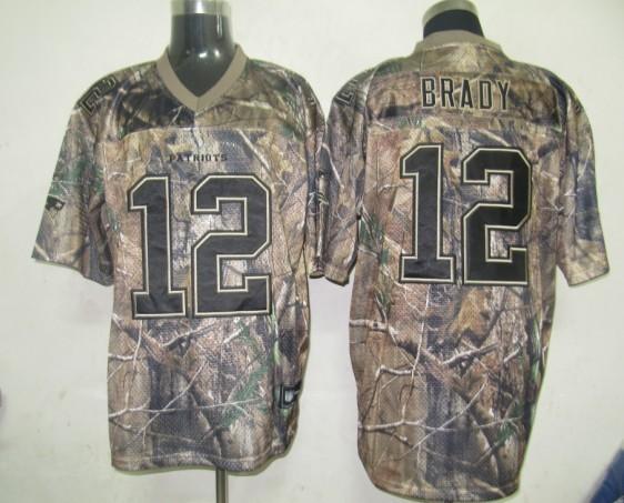 New England Patriots 12 Tom Brady Camo 2014 Nike Elite Jerseys