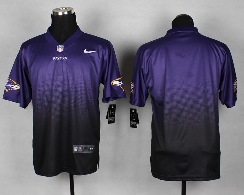 Baltimore Ravens Blank Purple Black Nike Drift Fashion II Elite Jerseys