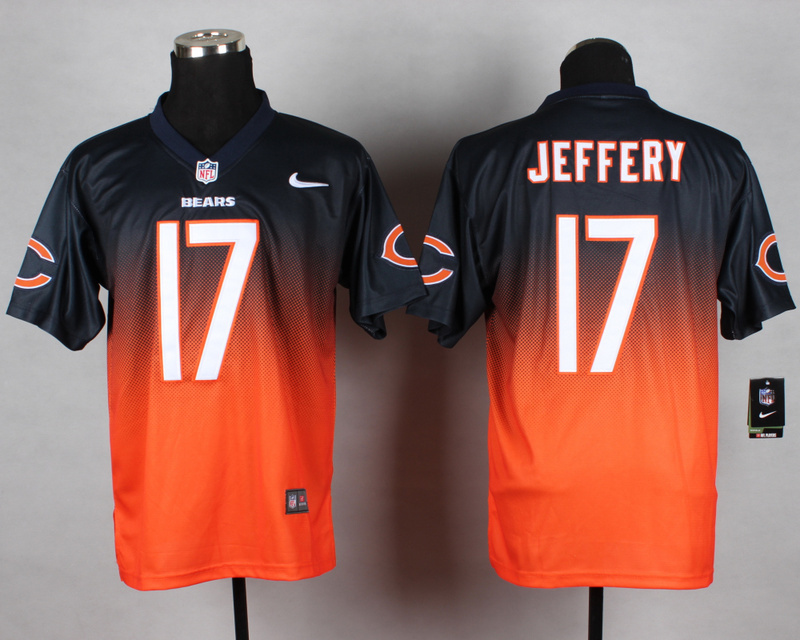 Chicago Bears 17 Alshon Jeffery Blue Orange Nike Drift Fashion II Elite Jerseys