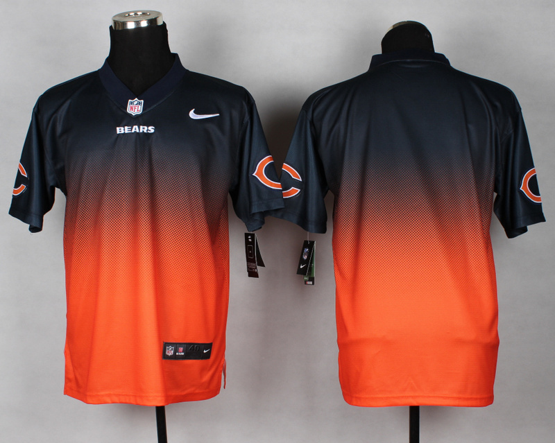 Chicago Bears Blank Blue Orange Nike Drift Fashion II Elite Jerseys