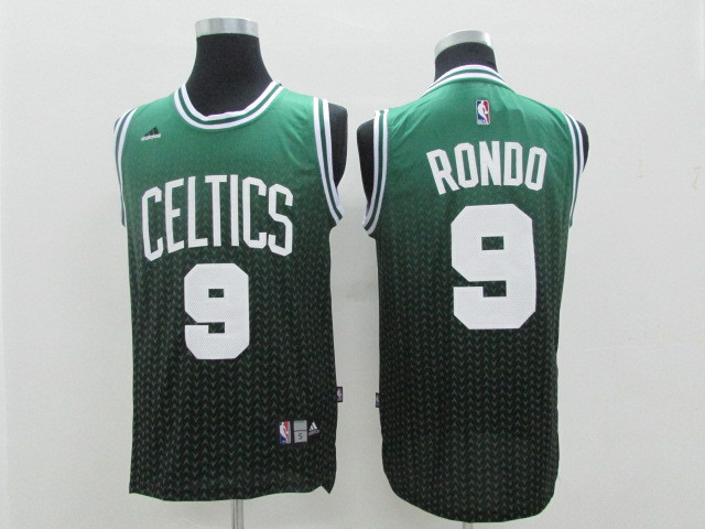 NBA Boston Celtics 9 Rajon Rondo Green drift fashion 2014 Jerseys