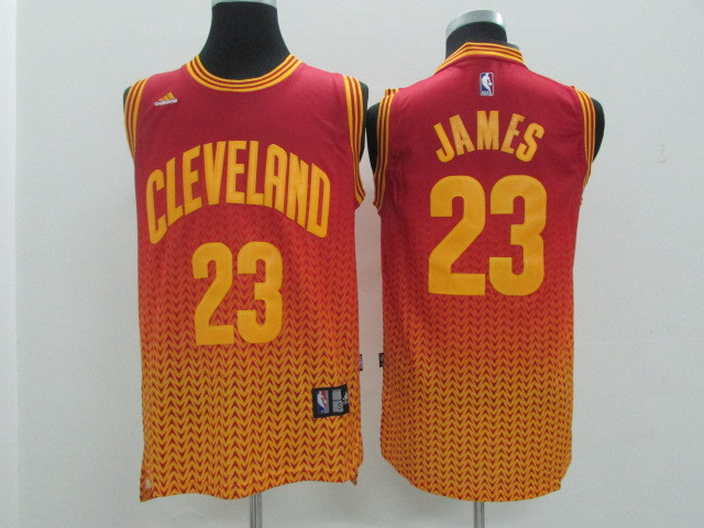 NBA Cleveland Cavaliers 23 Lebron James Red drift fashion 2014 Jerseys