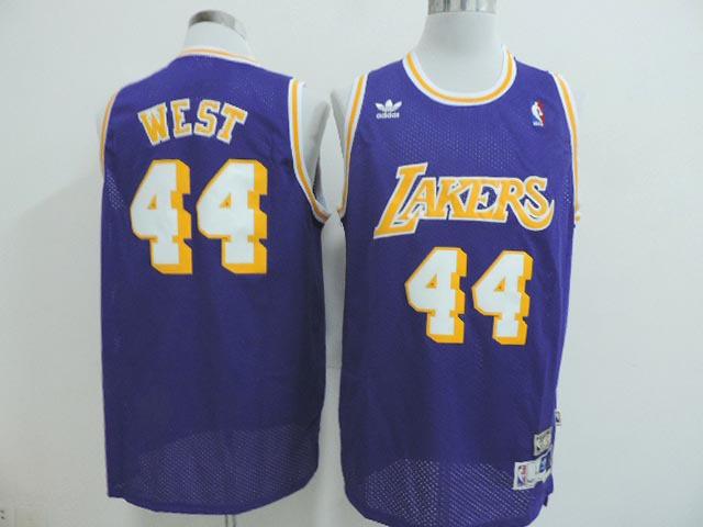 NBA Los Angeles Lakers 44 Jerry West Purple 2014 Jerseys
