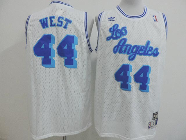NBA Los Angeles Lakers 44 Jerry West white 2014 Jerseys