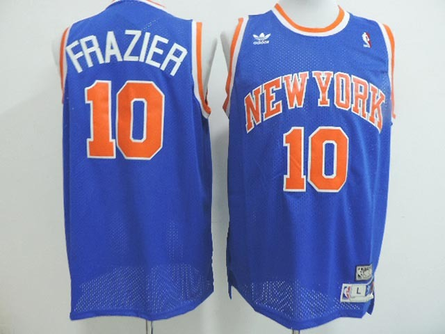 NBA New York Knicks 10 Frazier Blue 2014 Jerseys