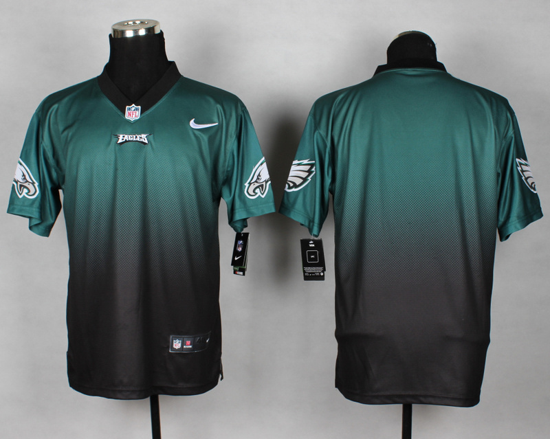 Philadelphia Eagles Blank Green Black Nike Drift Fashion II Elite Jerseys