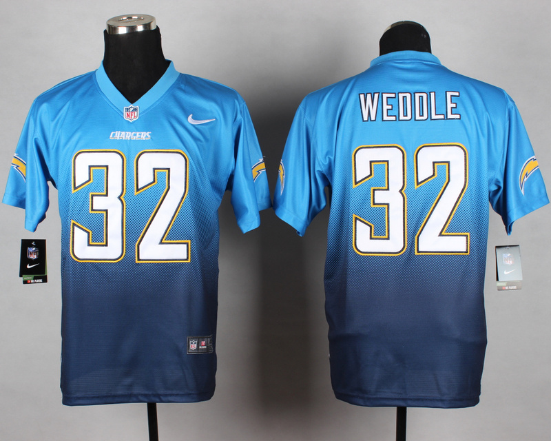 San Diego Chargers 32 Weddle Light Blue Nike Drift Fashion II Elite Jerseys