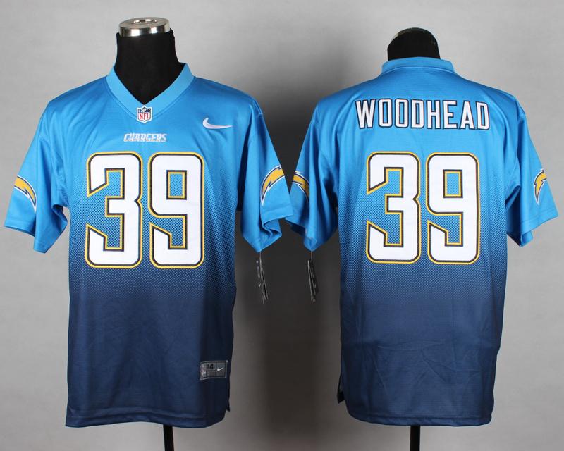 San Diego Chargers 39 Woooheao Blue Nike Drift Fashion II Elite Jerseys