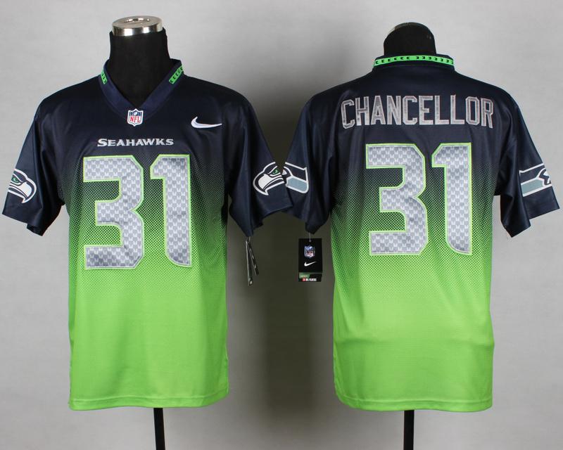 Seattle Seahawks 31 Chancellor Blue Green Nike Drift Fashion II Elite Jerseys