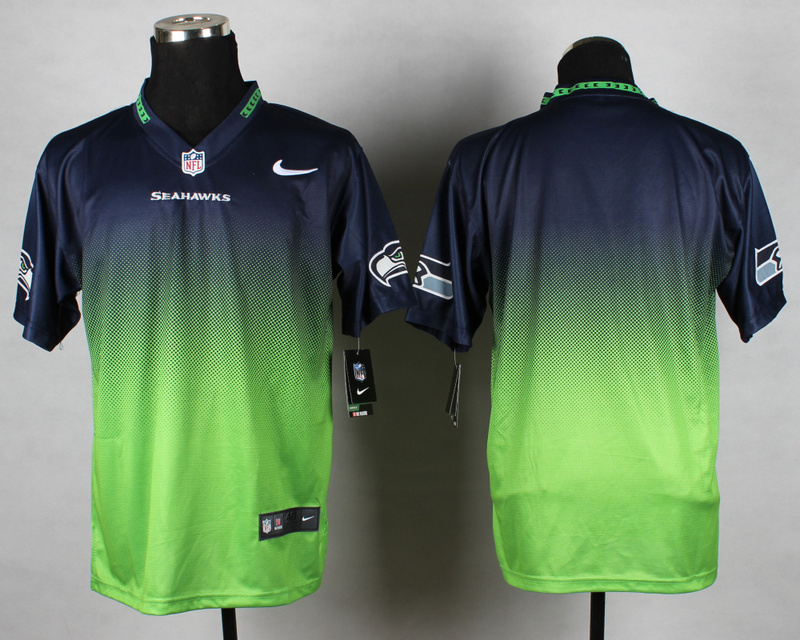 Seattle Seahawks Blank Blue Green Nike Drift Fashion II Elite Jerseys