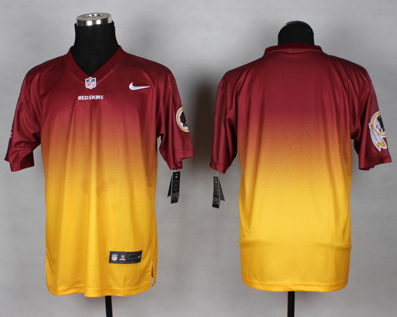 Washington Redskins Blank red Yellow Nike Drift Fashion II Elite Jerseys
