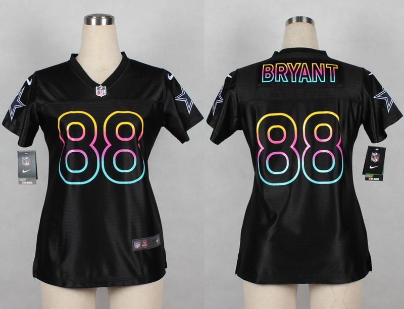 Womens Dallas Cowboys 88 Dez Bryant 2014 Black Fashion Nike Jerseys
