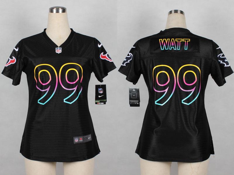 Womens Houston Texans 99 J.J. Watt 2014 Black Fashion Nike Jerseys