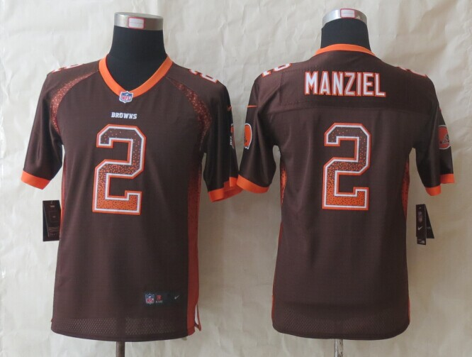 Youth Cleveland Browns 2 Manziel Drift Fashion Brown 2014 New Nike Elite Jerseys
