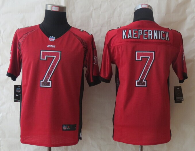 Youth San Francisco 49ers 7 Kaepernick Drift Fashion Red 2014 New Nike Elite Jerseys