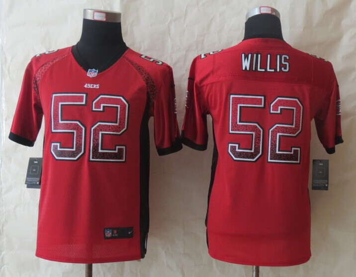 Youth San Francisco 49ers 52 Willis Drift Fashion Red 2014 New Nike Elite Jerseys