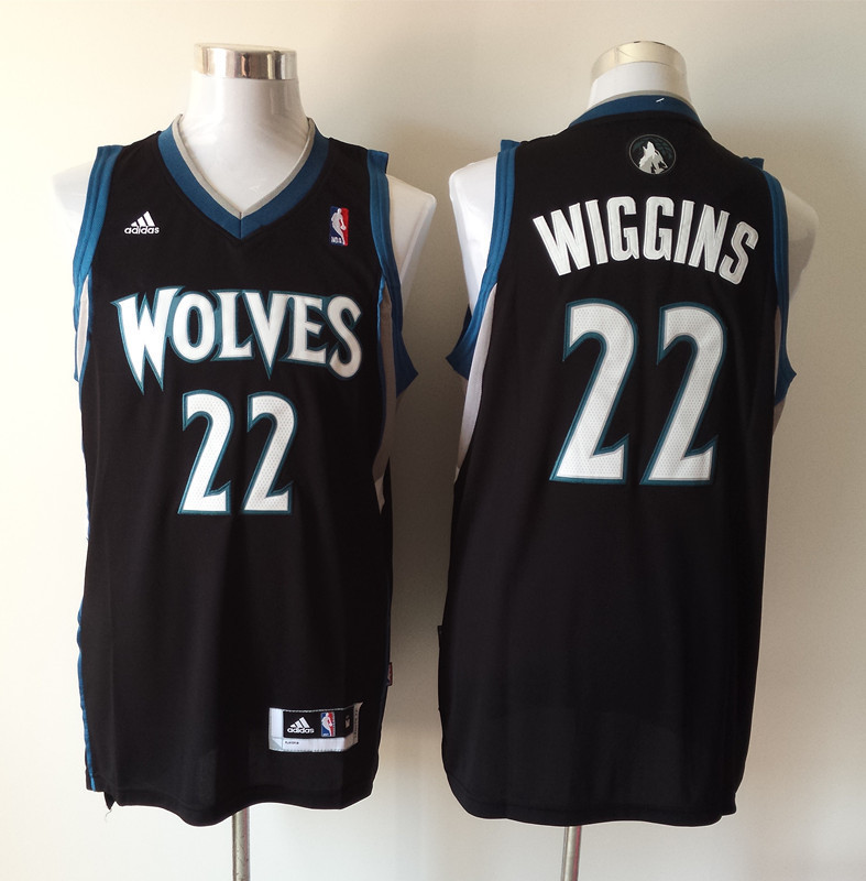 NBA Minnesota Timberwolves 22 Andrew Wiggins Black 2014 Jerseys