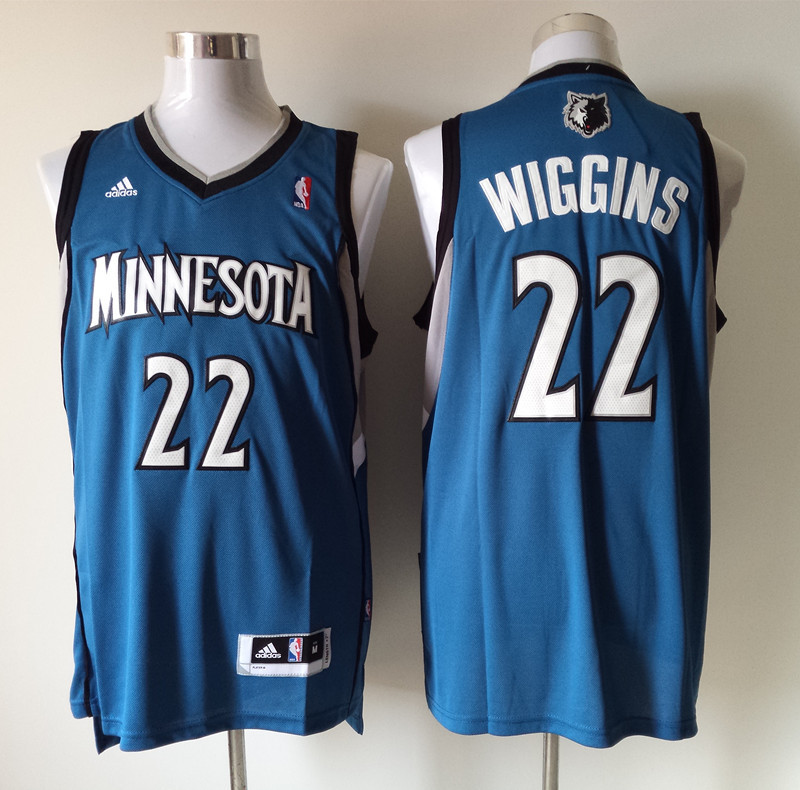 NBA Minnesota Timberwolves 22 Andrew Wiggins Blue 2014 Jerseys