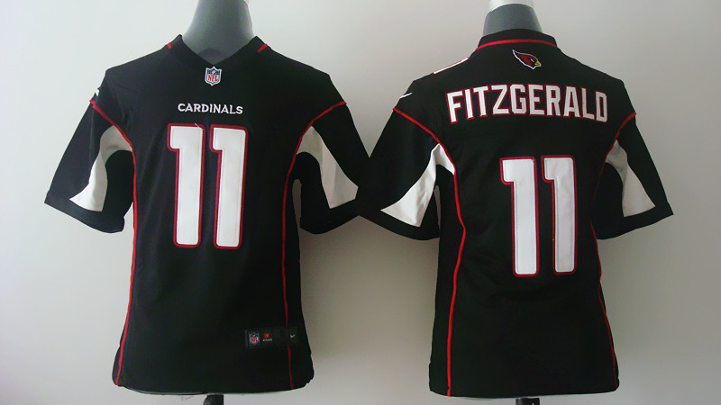 Youth Arizona Cardinals 11 Fitzgerald Black Nike 2014 Jerseys