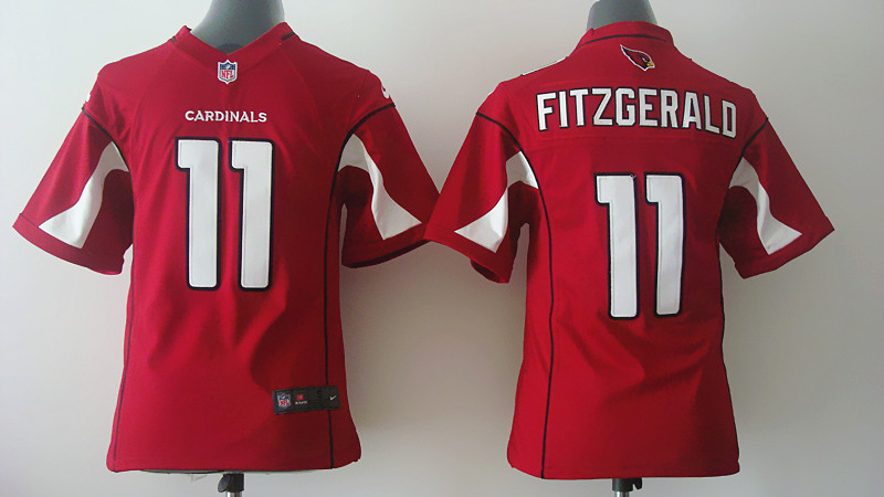 Youth Arizona Cardinals 11 Fitzgerald red Nike 2014 Jerseys