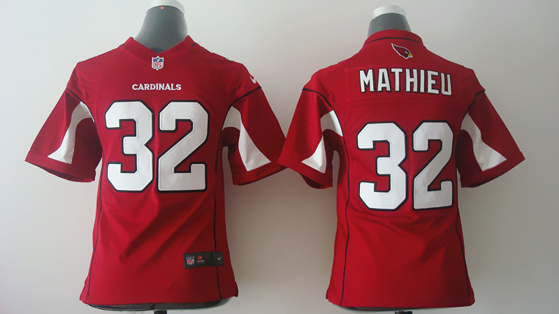 Youth Arizona Cardinals 32 Tyrann Mathieu Red Nike 2014 Jerseys