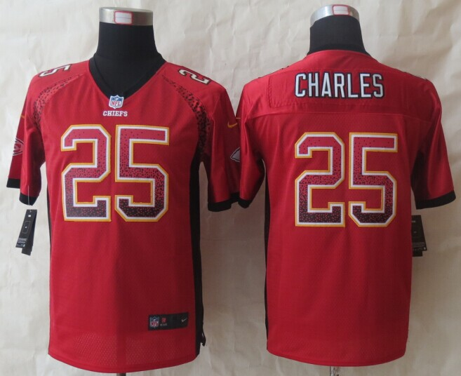 Youth Kansas City Chiefs 25 Charles Drift Fashion Red 2014 New Nike Elite Jerseys
