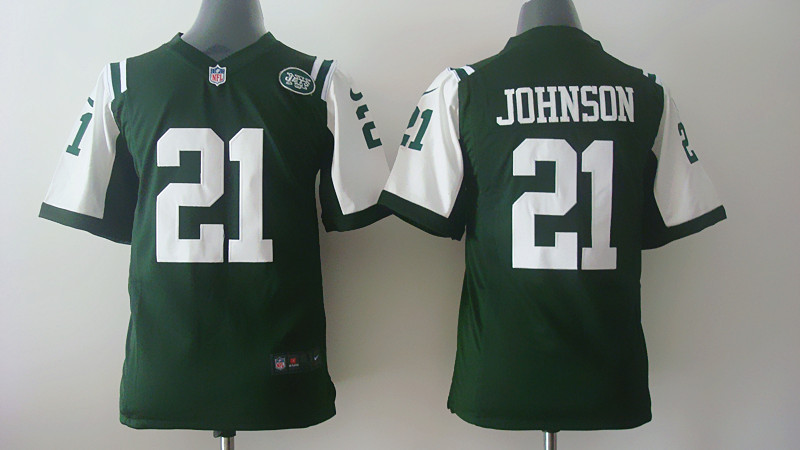 Youth New York Jets 21 Chris Johnson Green Nike 2014 Jerseys