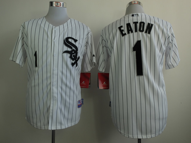 MLB Chicago White Sox 1 Adam Eaton White 2014 Jerseys