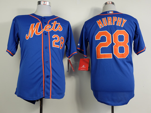 MLB New York Mets 28 Daniel Murphy Blue 2014 Jerseys