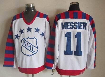 NHL1992 All Star 11 Mark Messier White Jerseys