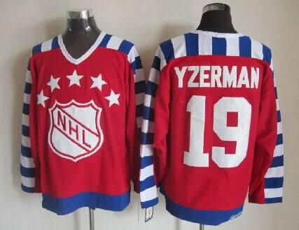 NHL1992 All Star 19 Steve Yezerman Red Jerseys