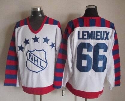 NHL1992 All Star 66 Mario Lemieux White Jerseys